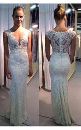 Bridal Zipper Back Floor Length Lace Elegant Dress
