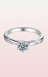 0.5 CT Moissanite 925 Silver Engagement Wedding Rings