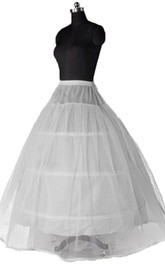 New Wedding Petticoats with 3 Steel Rims Plus Yarn Straps Waist Skirt Lined with Super Poncho Dress Skirt