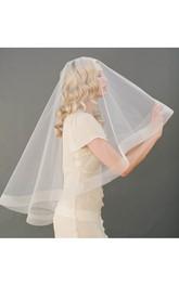 Simple Elbow Length Soft Tulle Wedding Veil