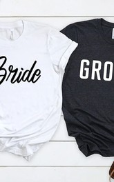 Classy Mood Bride Groom T-Shirts for Wedding Proposal Gift
