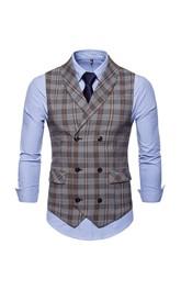 Cotton Plaid Men's Vest-2 Color Options
