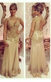 Beaded Keyhole Chiffon Long Lace Dress