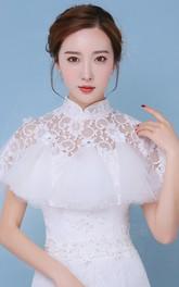 New Luxury Lace Turtleneck Shawl