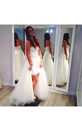 Tulle Beaded High-Low Sweetheart Floor-Length Dress