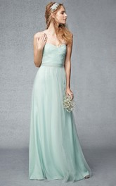 Sweetheart Criss cross Tulle Bridesmaid Dress
