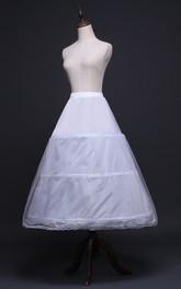 New Wedding Skirt Petticoat Elastic Waist Three Rims with Straps