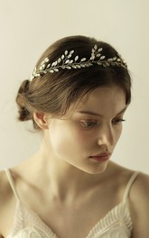 Beautiful Rhinestone Leaf Style Headbands