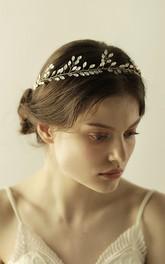 Beautiful Rhinestone Leaf Style Headbands