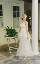 Lace Satin Wedding Tulle Backless Charmeuse Organza Dress