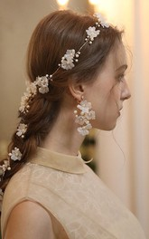 Charming Alloy Flower Headbands and Rings with Crystal
