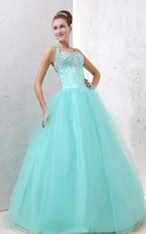 A-Line Soft Tulle Embellished Top Princess Ball Gown