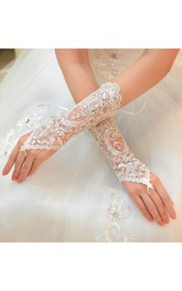 New Long Length Lace Straps Gloves