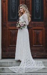 Chiffon Jersey Satin Sash Ribbon Lace Wedding Dress