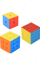 Fast And Smooth Magic Speed Rubiks Cube Puzzle Stickerless Three Cubes In One Pack