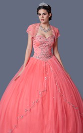 Drift Away Beadwork On Skirt Strapless Top Princess-Inspire Elegant Gown