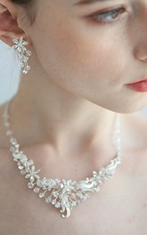 Beautiful Crystal Rhinestone Necklace and Earrings and Crown Jewelry Sets