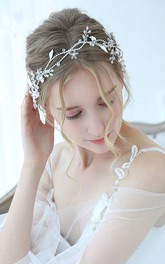 Korean Style Handmade Silver Floral Headbands