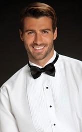 White Pleated Wingtip Tuxedo Shirt