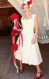 Tea-Length-Inspire Wedding Unique Gown