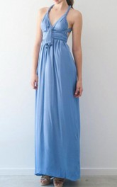Long Strapped Convertible Chiffon Dress