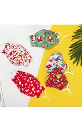 Non-medicial Christmas Cotton Washable Face Mask In 5 Colors