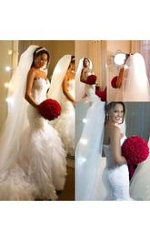 Sweetheart Organza Lace  Sleeveless Wedding Gown