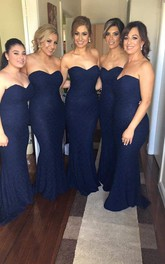 Trumpet Lace Sweetheart Sassy Bridesmaid Dress
