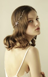 Korean Style Shining Pearl Headbands with Flowers
