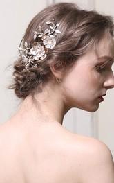 Handmade Floral Shining Bridal Hair Combs