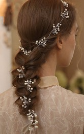 Western Style Bridal Headbands with Beads