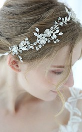 Forest Style Crystal Headbands with Flowers and Leaves