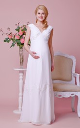A-Line High-Waist Cap-Sleeved Sassy Gown