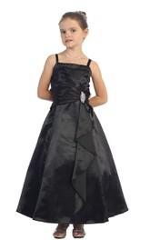 Pleated Straps A-Line Sleeveless Dress