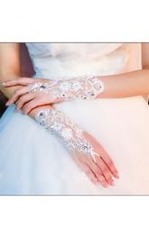 Diamond New Korean Temperament Short Lace Mitts