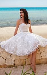 Midi Satin Sash Sweety Princess-Inspire Wedding Gown