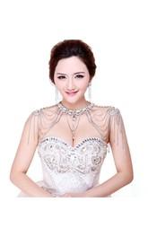 Fashion Hot-selling Rhinestone Tassel Shoulder Chain