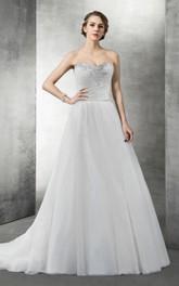 Sweetheart A-Line Organza Wedding Dress