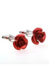 Copper Rose Groom Cufflinks-4 Color Options