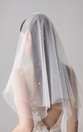 Two Tier Handmade Bridal Veils with Beads