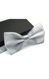 Plain Satin Wedding Bow Tie-11 Color Options