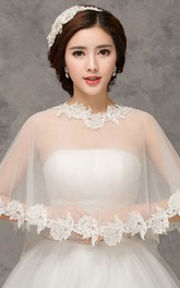 New Lace White Word Shoulder Cape Shawl