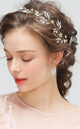 Pure White Chic Bridal Headbands and Rings