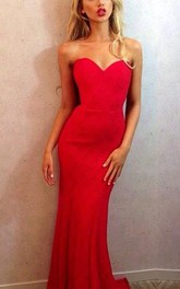 Mermaid Zipper Sleeveless Formal Red Newest Sweetheart Gown