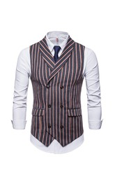 Striped Poly Men's Vest-3 Color Options
