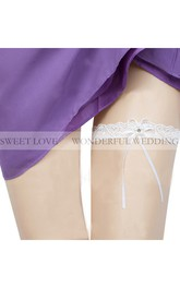 Fresh Fairy White Lace Elastic Garter Within 16-23inch