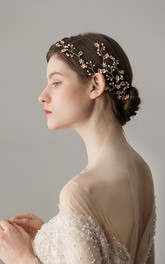 Western Style Golden Leaf Headbands