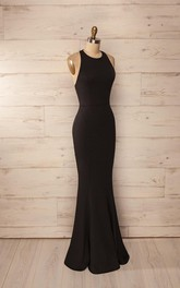 Formal Long Trumpet Party Sleeveless Sassy Gown