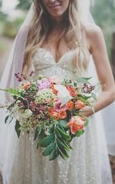 Glamorous Spaghetti Strap Sleeveless Wedding Dress Floor-length Sequins