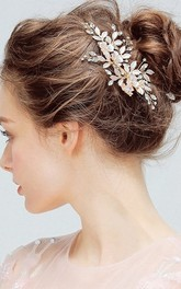 Forest Style Elegant Hair Clips with Flowers and Leaves